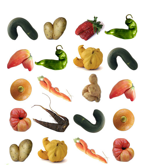 verduras imperfectas espigoladas